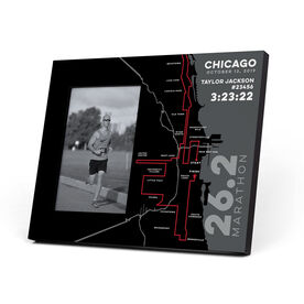 Running Photo Frame - Chicago 26.2 Route