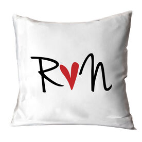 Running Throw Pillow - Run Heart