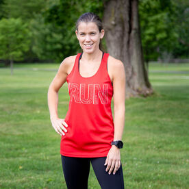 Women's Racerback Performance Tank Top - Run With Inspiration
