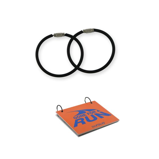 "BibFOLIO® Replacement Rings (2""  Black Rings) - Set of 2"