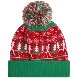 Running Knit Hat - Christmas Sweater