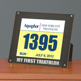 BibDISPLAY - Runners Race Bib Frame - My First Triathlon