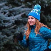 Running Knit Hat - Runner Girl Blue