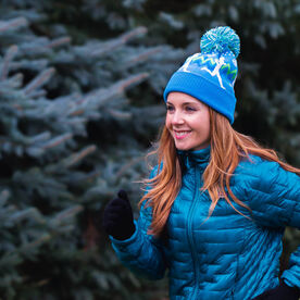 Running Knit Hat - Runner Girl Blue