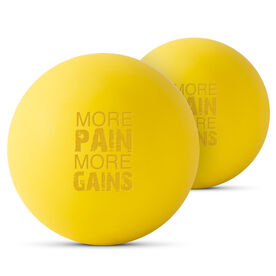 Lacrosse Massage Recovery Balls - More Pain More Gains (Set of 2)