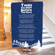 Running Premium Blanket - Taws The Night Before The Race