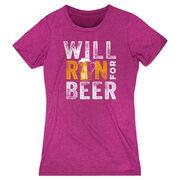 Women's Everyday Runners Tee - Will Run For Beer