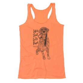 Women's Everyday Tank Top - Life's Short. Let's Run!