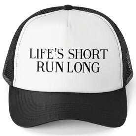 Running Trucker Hat - Life's Short Run Long (Text)