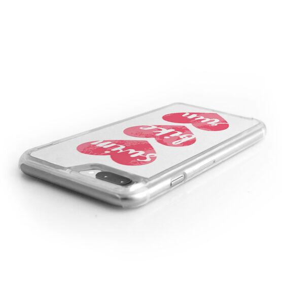 Triathlon iPhone® Case - Swim Bike Run Watercolor Hearts
