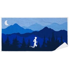 Running Premium Beach Towel - Mountain Call Male
