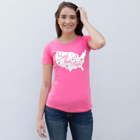 Women's Everyday Runners Tee - Land That I Run