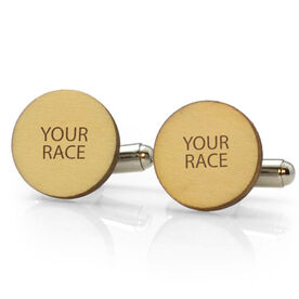 Running Engraved Wood Cufflinks Your Race