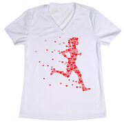 Women's Running Short Sleeve Tech Tee - Heartfelt Run
