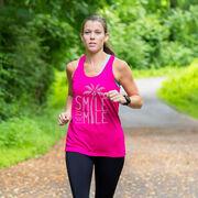 Women's Racerback Performance Tank Top - Smile Every Mile