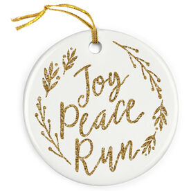 Running Porcelain Ornament - Joy Peace Run