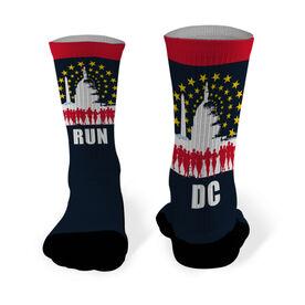 Running Printed Mid Calf Socks Run DC