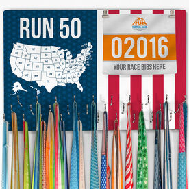 Running Large Hooked on Medals and Bib Hanger - Run 50