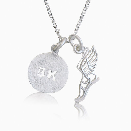 Livia Collection Sterling Silver Winged Foot 5K Necklace