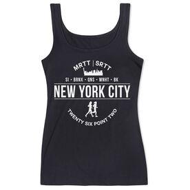 Women's Athletic Tank Top - New York City 26.2 (MRTT/SRTT)