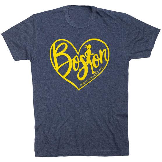Running Short Sleeve T-Shirt - Love The Run Boston 26.2