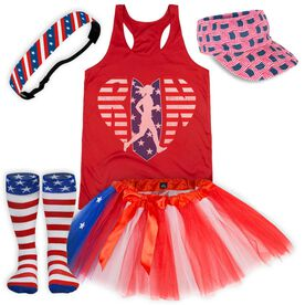 American Flag Running Outfit
