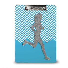 Running Custom Clipboard Runner Girl Faux Glitter Chevron