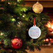 Running Round Ceramic Ornament - Favorite Things