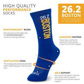 Socrates® Mid-Calf Performance Socks - Boston 26.2