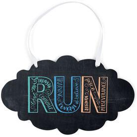 Running Cloud Sign - Run With Inspiration ChalkBoard