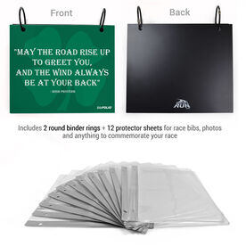 BibFOLIO® Race Bib Album - May The Road Rise Up To Greet You Quote Artist Style