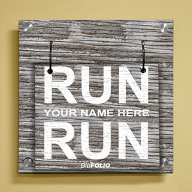 Personalized Run Name Run Wall BibFOLIO® Display