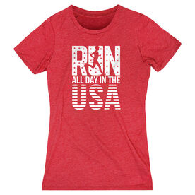 Women's Everyday Runners Tee - Run All Day In The USA