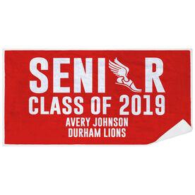 Track & Field Premium Beach Towel - Personalized Senior Class Of
