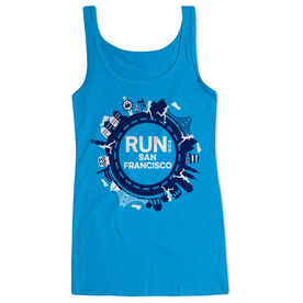 Running Women's Athletic Tank Top - Run for San Francisco