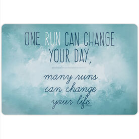 """Running 18"""" X 12"""" Aluminum Room Sign - Change Your Life"""