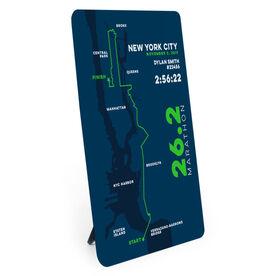 Running Desk Art - New York City 26.2 Route