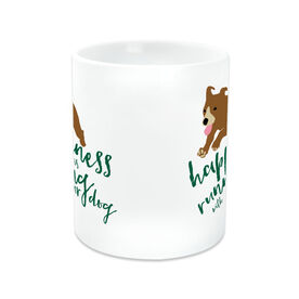 Running Coffee Mug - Happiness Is Running With Your Dog