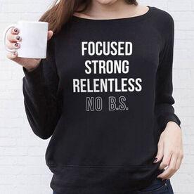 Fleece Wide Neck Sweatshirt - Focused & Strong