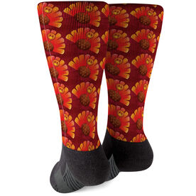 Printed Mid-Calf Socks - Turkey Pattern