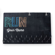 Running Large Hooked on Medals and Bib Hanger - Run With Inspiration