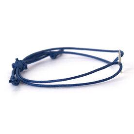 Sterling Silver Cord Bracelet - Runner Girl Heart