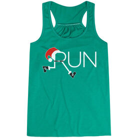 Flowy Racerback Tank Top - Let's Run For Christmas