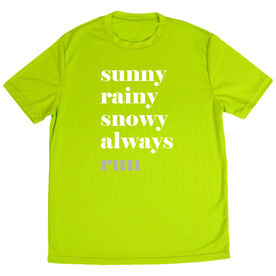 Men's Running Short Sleeve Tech Tee - Run Mantra - Weather