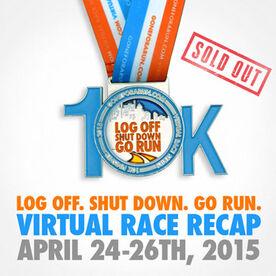 Log Off Shut Down Go Run Virtual 10K
