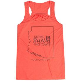 Flowy Racerback Tank Top - Moms Run This Town Arizona Runner