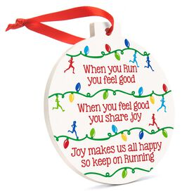 Running Round Ceramic Ornament - When You Run Christmas Lights
