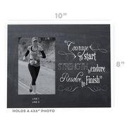 Running Photo Frame - Chalkboard Courage To Start