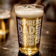Running 16 oz Beer Pint Glass Dad Runner Word