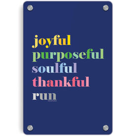 Running Metal Wall Art Panel - Run Mantra (Run)